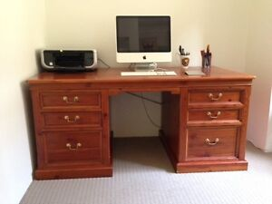 Elegant solid timber desk Russell Lea Canada Bay Area Preview