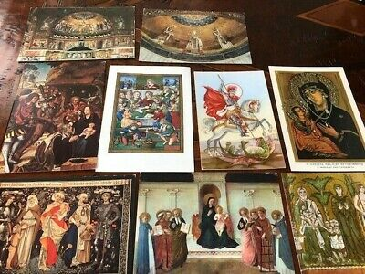 NINE POSTCARDS WITH RELIGIOUS THEMES