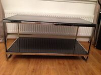 NEW BLACK GLASS COFFEE TABLE FROM DWELL