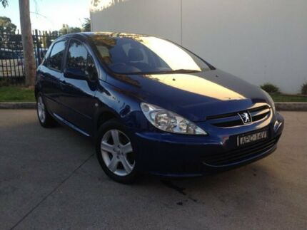 2003 Peugeot 307 T5 MY03 XSE Blue Manual Hatchback