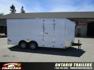 "ONTARIO TRAILERS TANDEM AXLE 8' X 16'+36"" V-NOSE TITAN"