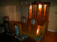 Dining Table and Hutch set + sideboard buffet