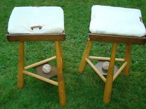 Two Baseball Stools / Side Tables $85 each