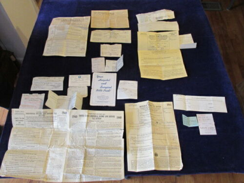 1940-1943 Federal Income Tax Return Form Lot 1040 w/Taxpayer Notes Writing Q1175