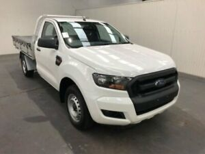 2015 Ford Ranger PX MKII XL 4X2 Cool White Manual CAB CHASSIS SINGLE CAB Moonah Glenorchy Area Preview