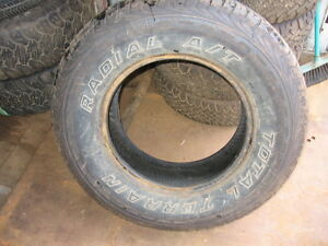 1 total terrain 245/75r16 used tire reference aaa29