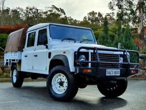 2012 Land Rover Defender 130 12MY Crew Cab White 6 Speed Manual Cab Chassis Littlehampton Mount Barker Area Preview