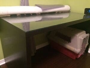 ♥ Black Desk with Glass Top ♥ ONLY $85 OBO Kitchener / Waterloo Kitchener Area image 2