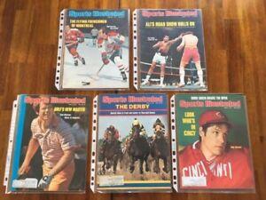 Revue Sports Illustrated Magazine lot 76-77 (Ali, Lafleur, etc)