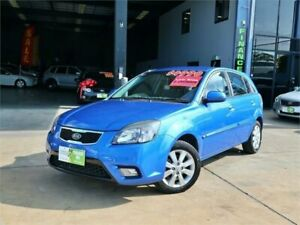 2009 Kia Rio JB MY09 LX Blue 5 Speed Manual Hatchback