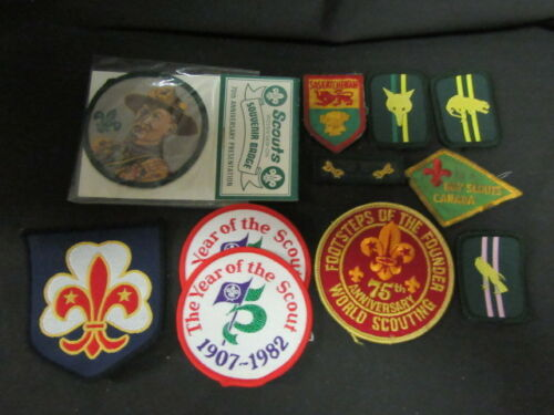 International Boy Scout Patch Lot, 11 patches   c52