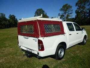 2013 Toyota Hilux KUN16R MY12 SR Xtra Cab White 5 Speed Manual Utility Maryborough Fraser Coast Preview