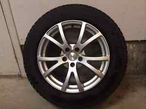 """Set of four Michelin 18"""" Snow tires on Fast Alloy rims Kitchener / Waterloo Kitchener Area image 2"""