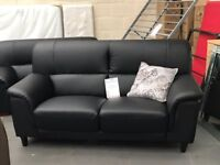 MFS FURNITURE - LEATHER SOFA DEALS - BRAND NEW - REAL LEATHER NOT PLASTIC - BLACK & BROWN