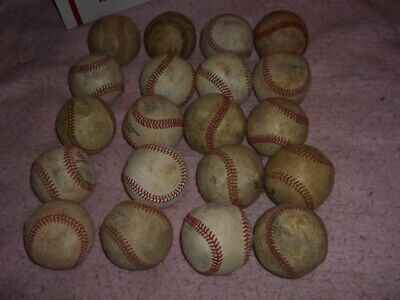 Baseball Ball Lot 20 Leather Baseball Practice Balls  Q17
