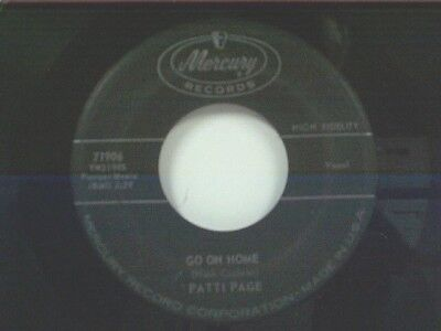 Patti Page  Go On Home   Too Late To Cry  45