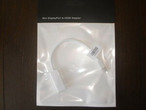 Apple Mini DisplayPort to HDMI Cable Adapter (1080P + Audio)