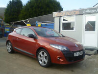 2010 RENAULT MEGANE 1.6 I-MUSIC VVT GROUP 6 INS COUPE..ALL CREDIT/DEBIT CARDS ACCEPTED