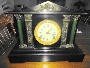 BEAUTIFUL ANTIQUE MARBLE ANSONIA MANTLE CLOCK