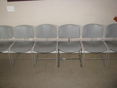 6 Steelcase Stacking Chairs Max Stacker