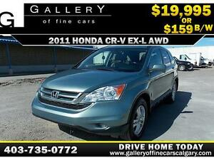 2011 Honda CR-V EX-L 4WD $159 bi-weekly APPLY NOW DRIVE NOW