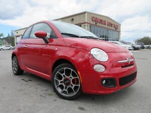 2012 Fiat 500 SPORT, ROOF, ALLOYS, A/C, 45K!