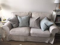 4 month old beige two seater sofa from IKEA