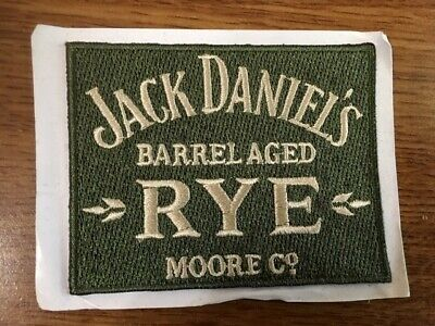 Used, Vintage Discontinued Jack Daniels Barrel Aged Rested Rye Fabric Bikers Patch for sale  Houston