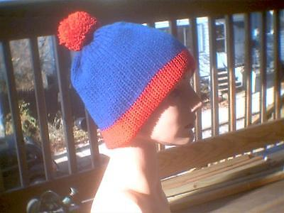 South Park Stan Cosplay (Knit hat South Park cosplay Stan red and blue)