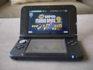 KIT 3DS XL+HEADPHONES,CHARGE,STYLUS ET 1380 JEUX