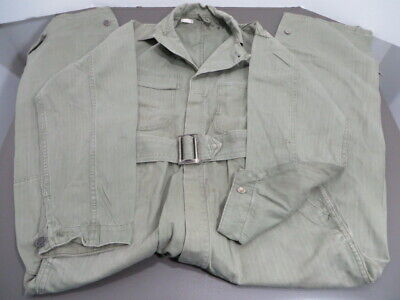WW2 US Army HBT Coveralls Originals with Laundry Number these show wear.