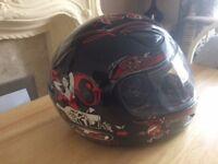 Red/ Black HJC Large Motorbike Helmet