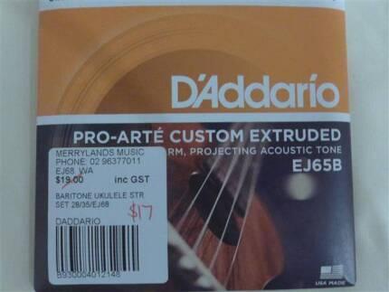 New D'Addario Pro-Arte Baritone Ukulele String Set $10
