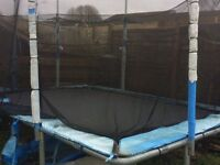 LARGE RECTANGULAR TRAMPOLINE 12FT X 8FT - BARGAIN