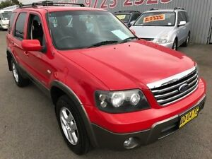 2007 Ford Escape ZC XLT Red 4 Speed Automatic Wagon Lansvale Liverpool Area Preview