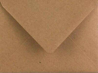 Kraft Envelopes C6 Brown Fleck 110gsm Premium Recycled Pack of 50 by Cranberry