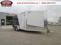 DELUXE SNOWMOBILE HAULER - 7 X 19' - CHECK OUT THE SAVINGS