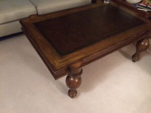 Walnut hardwood coffee table