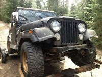 Lots of Jeep CJ parts including 3 speed tranny