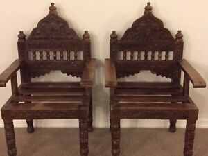 Exquisite Decorative Indian Arm Chairs Montville Maroochydore Area Preview