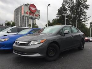 2012 Honda Civic Sdn LX   CERTIFIED  CLEAN CARPROOF NO ACCIDENTS