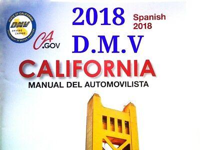 SPANISH 2018 California DMV Driver Handbook to your door ONLY $4.95 Hassle free (Driver Handbook)
