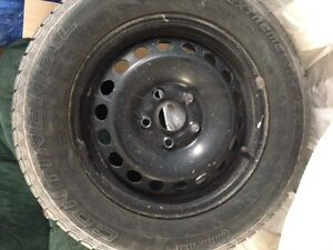 STEEL RIMS AND WINTER TIRES 16in VW