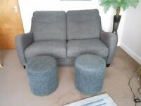 SisiItalia 3 seater sofa+2 x footstool ,Now £120