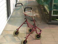 Purple LUMEX Jumbo Wheeled Rollator Walker With Tray For Sale