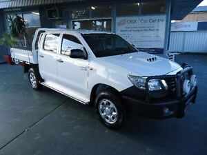2013 Toyota Hilux KUN26R MY12 SR (4x4) White 4 Speed Automatic Dual Cab Pick-up Hamilton Newcastle Area Preview