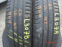 175 65 15 Michelin, Energy Saver, 84H, x2 A Pair, 6.4mm (450-458 Barking Road,E13 8HJ) Part Worn