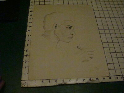 SIGNED - LOUIS FERON drawing of COSTA RICAN young man--1930s /40s  w pencil