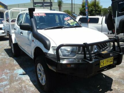 2007 Mitsubishi Triton ML MY08 GLX (4x4) White 4 Speed Automatic 4x4 Double Cab Utility Homebush West Strathfield Area Preview