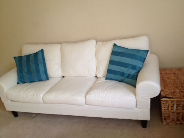 50 3 Seat White Sofa Slipcovers Like New 10 Months